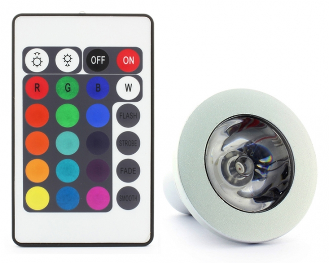 Led GU10 3w Color Changing Lamp